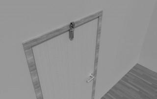 Türdämpfer Z 1000 mit Haken 1011 an zurückliegender Tür