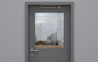 Türöffnungsbegrenzer an Tür ohne Obentürschließer, Montage unter dem Türsturz