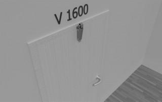Türdämpfer V 1600 an gleichliegender Tür