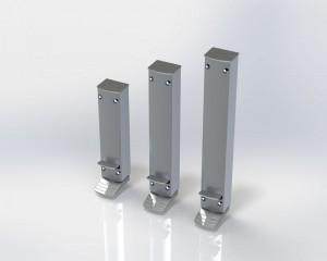 Blocage de porte ZE Design Line avec une course de 80, 120 ou 160 mm